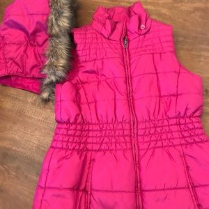 Small hot pink vest